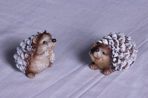 Snowy Hedgehog Pair
