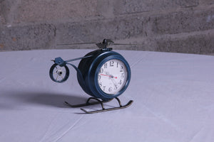 Old time helicopter clock