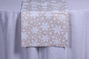 Frosty Snowflake table runner