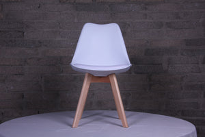 Eames Style Dining Chairs White with padded seat - Fervor + Hue