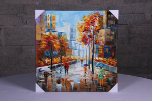"""April Showers"" Hand painted wall art on canvas"