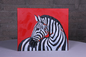 """Zebra Stripes"" hand painted animal wall art on canvas"
