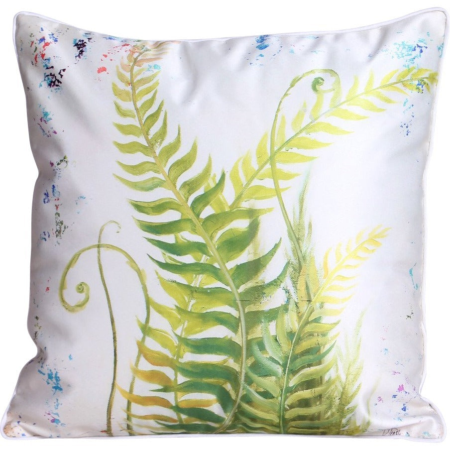 Botanical Curling Fern Leaf Cushion