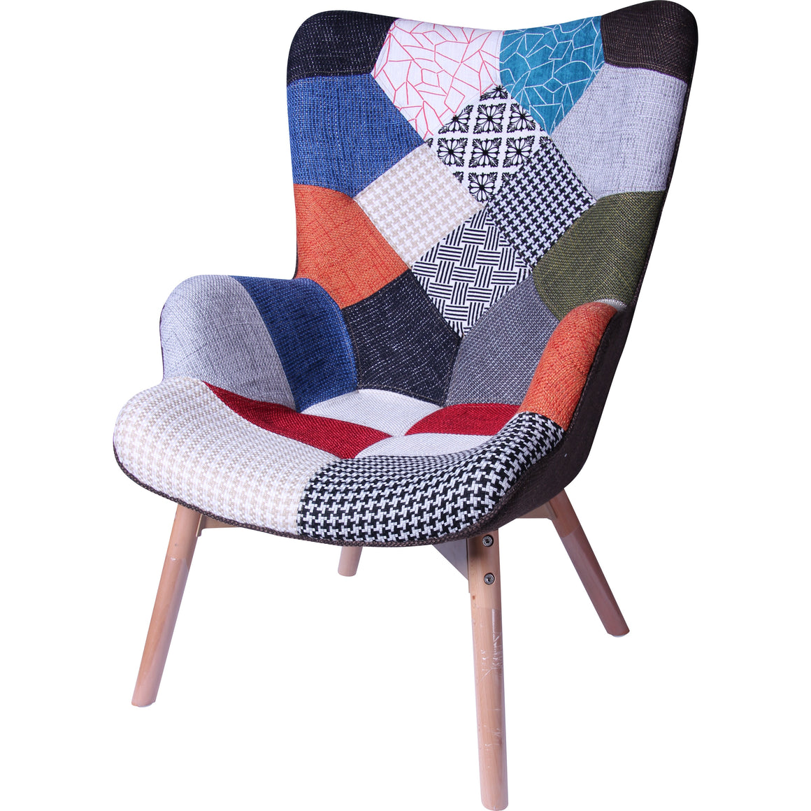 Eames Style Patchwork Armchair