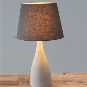 Rustic Natural Grey Bottle Table Lamp