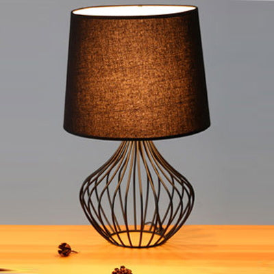 Grace Cage Table Lamp Black - Fervor + Hue