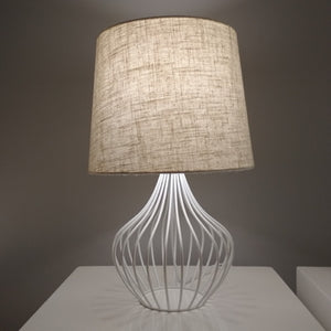 Grace Cage Table Lamp White