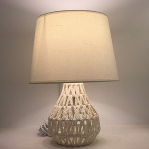 Rope Mesh Classic Table Lamp White