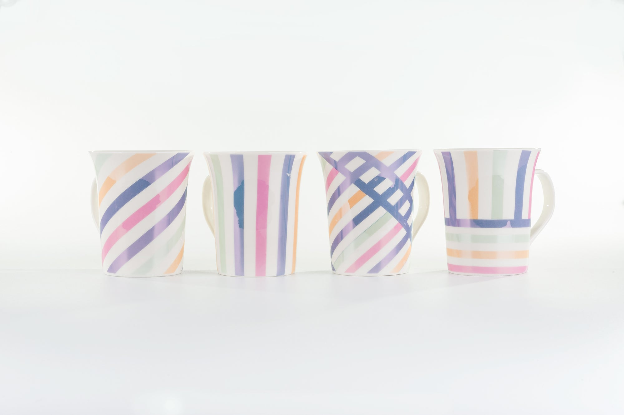 Mug Collection Candy Swirl Set of 4