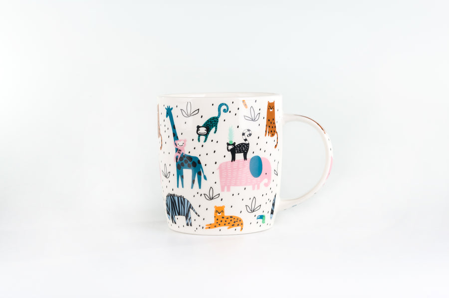Mug Collection - Jungle Set of 4