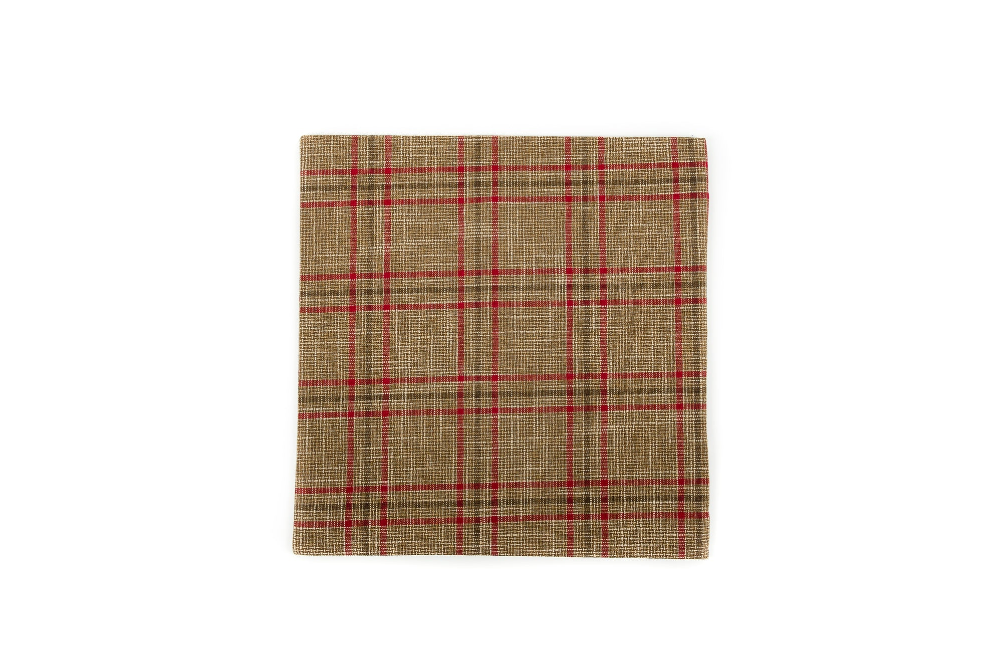 Rustic Check Brown Berry Red - Cover Only - Fervor + Hue