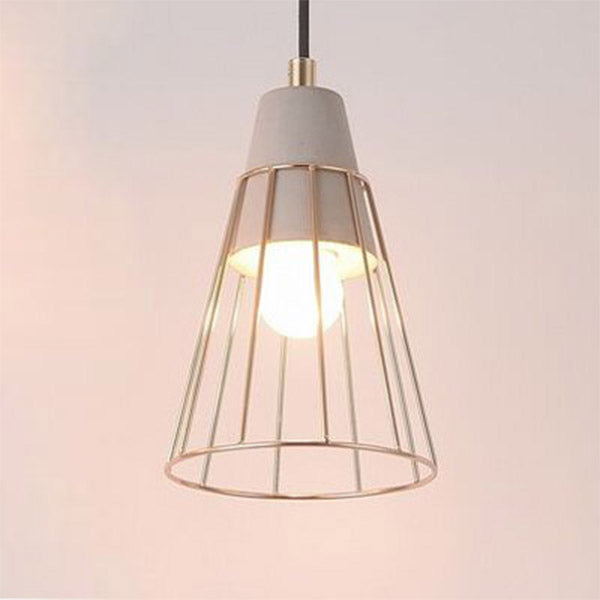 Delight Cone Soft Gold Ceiling light Pendant - Fervor + Hue