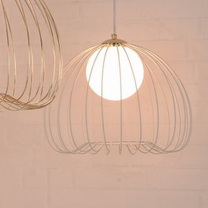 Whisper Glass White Metal Ceiling Light Pendant M