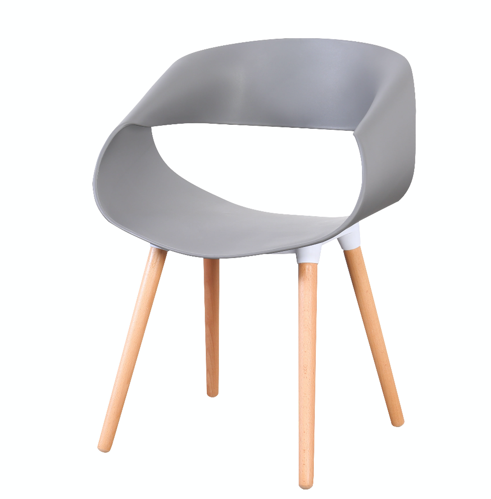 Celine Curl Ribbon Chair Grey - Fervor + Hue