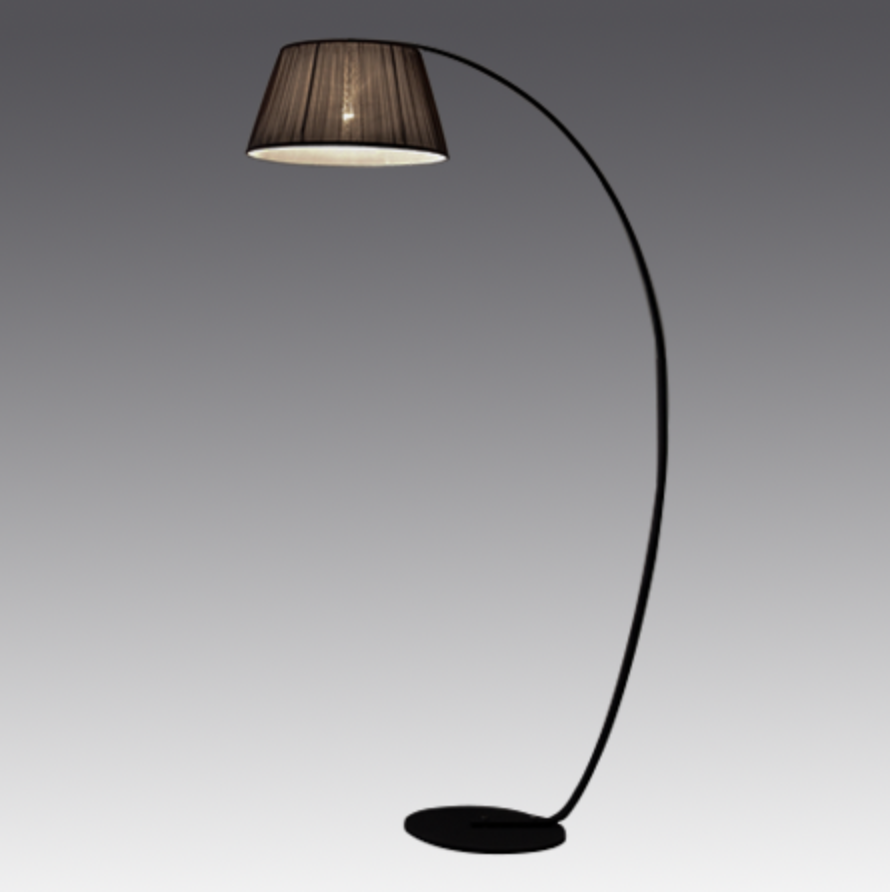 Curve Floor Lamp Black ML725F - Fervor + Hue
