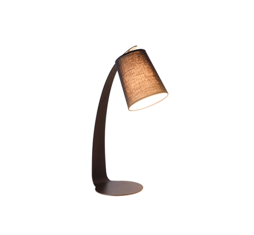 Metro Metal Fabric Table Lamp Black - Fervor + Hue