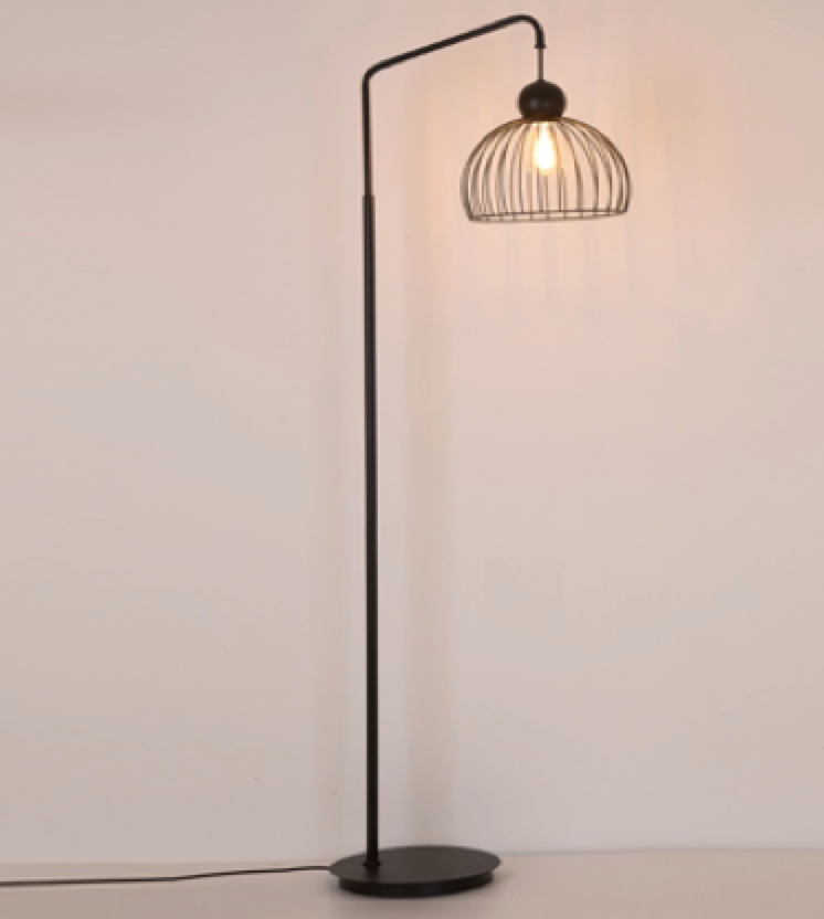 Jason Metal Floor Lamp FBK - Fervor + Hue