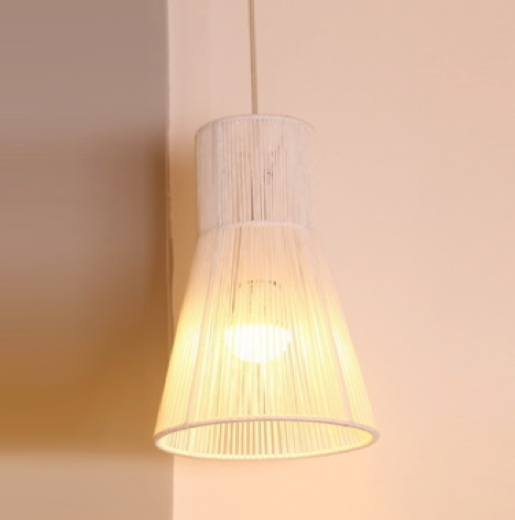 Rope Mesh Taper Ceiling Light Pendant White - Fervor + Hue