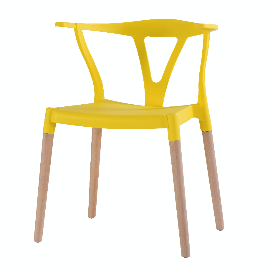 Wishbone Chairs Yellow - Fervor + Hue