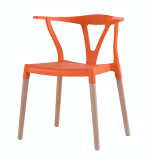 Wishbone Dinning Chairs Orange - Available now