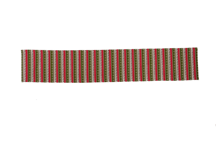 Table Runner Winter Forest Red Green - Fervor + Hue