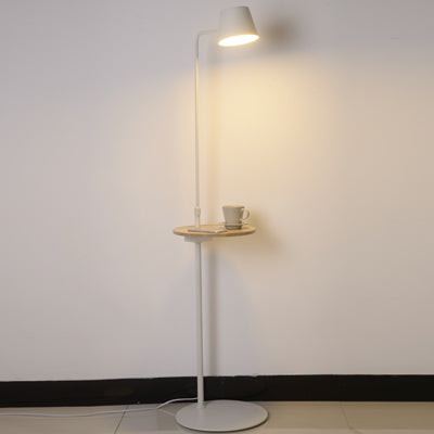 Shelf Floor Lamp White - Fervor + Hue