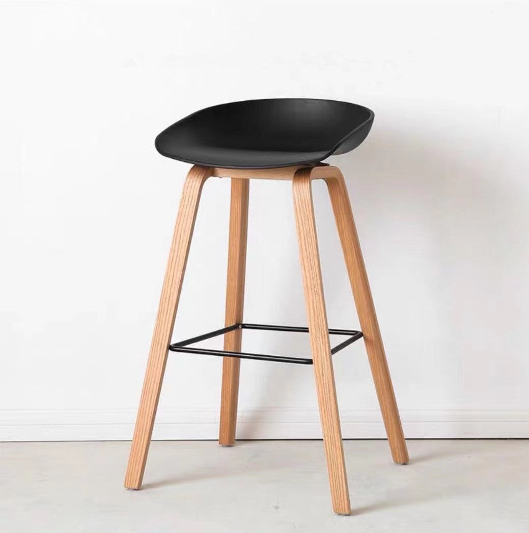 Eames Style Low back Bar Stool Black - PRE ORDER NOW IN STOCK FROM 1ST FEB 2021 - Fervor + Hue