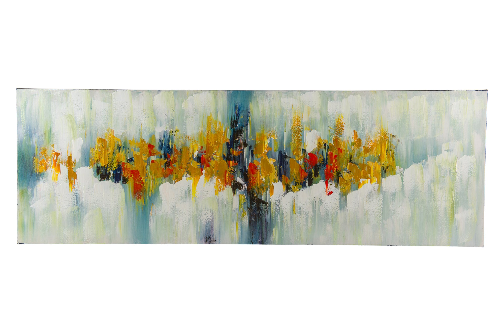 """Evening Light Abstract"" Hand painted wall art on canvas - Fervor + Hue"