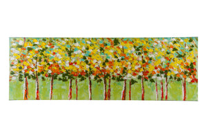 """Leafy Lane"" Hand painted wall art on canvas"