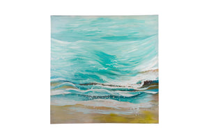 """Summer Day Waves"" Hand painted wall art on canvas"