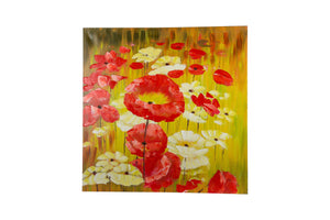 """Poppy Melody"" Hand painted wall art on canvas"