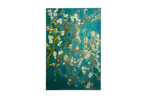 """Vintage Floral Linen"" Hand painted wall art on canvas"