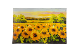 """Sunflower Meadow"" Hand painted wall art on canvas"
