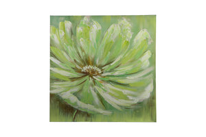 """Vintage Floral Soft Petal"" Hand painted wall art on canvas"