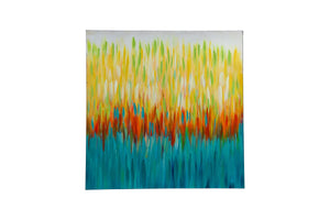"""Colour Stream Multi C"" Hand painted wall art on canvas"