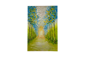 """Perfect Blue Sky Day"" Hand painted wall art on canvas"