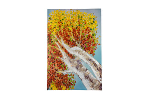"""See The Autumn Sky"" Hand Painted Wall Art On Canvas"