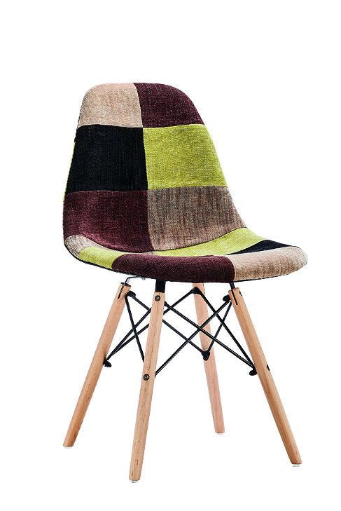 Eames Style Chairs - Green Patchwork