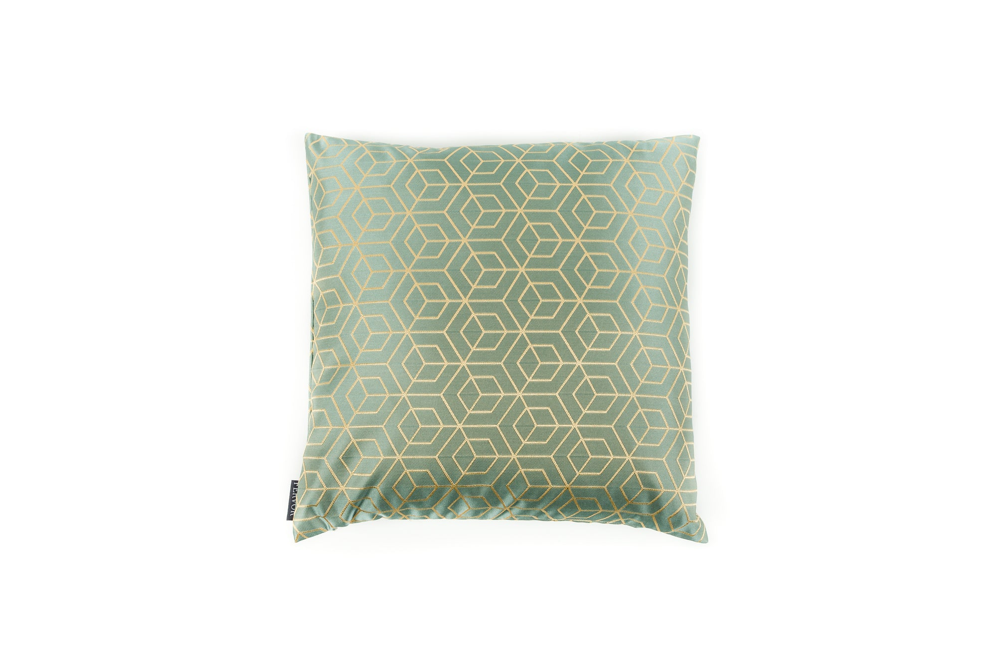 Cushion Geo Cubes Mint - Fervor + Hue