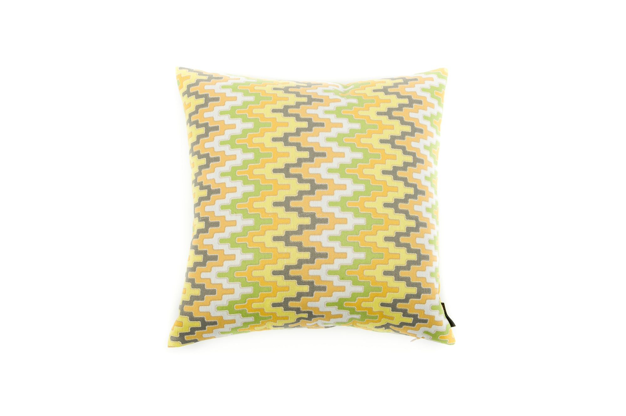 Cushion Geo Zig Zag Grey Multi - Fervor + Hue