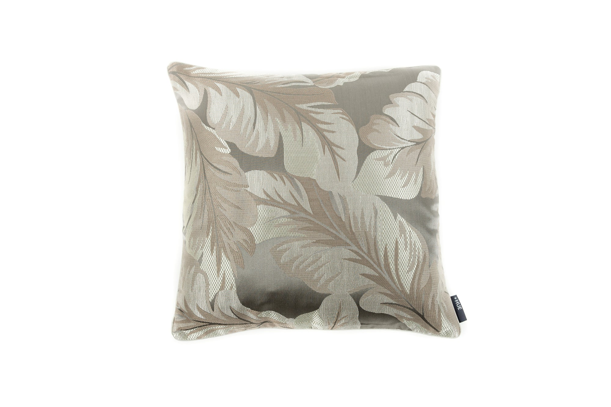 Cushion Geo Floral Abstract Grey - Fervor + Hue