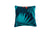 Cushion Chenille Print Exotic Palm Aqua - Fervor + Hue