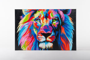 Lion's Den Hand Painted Animal Wall Art on Canvas