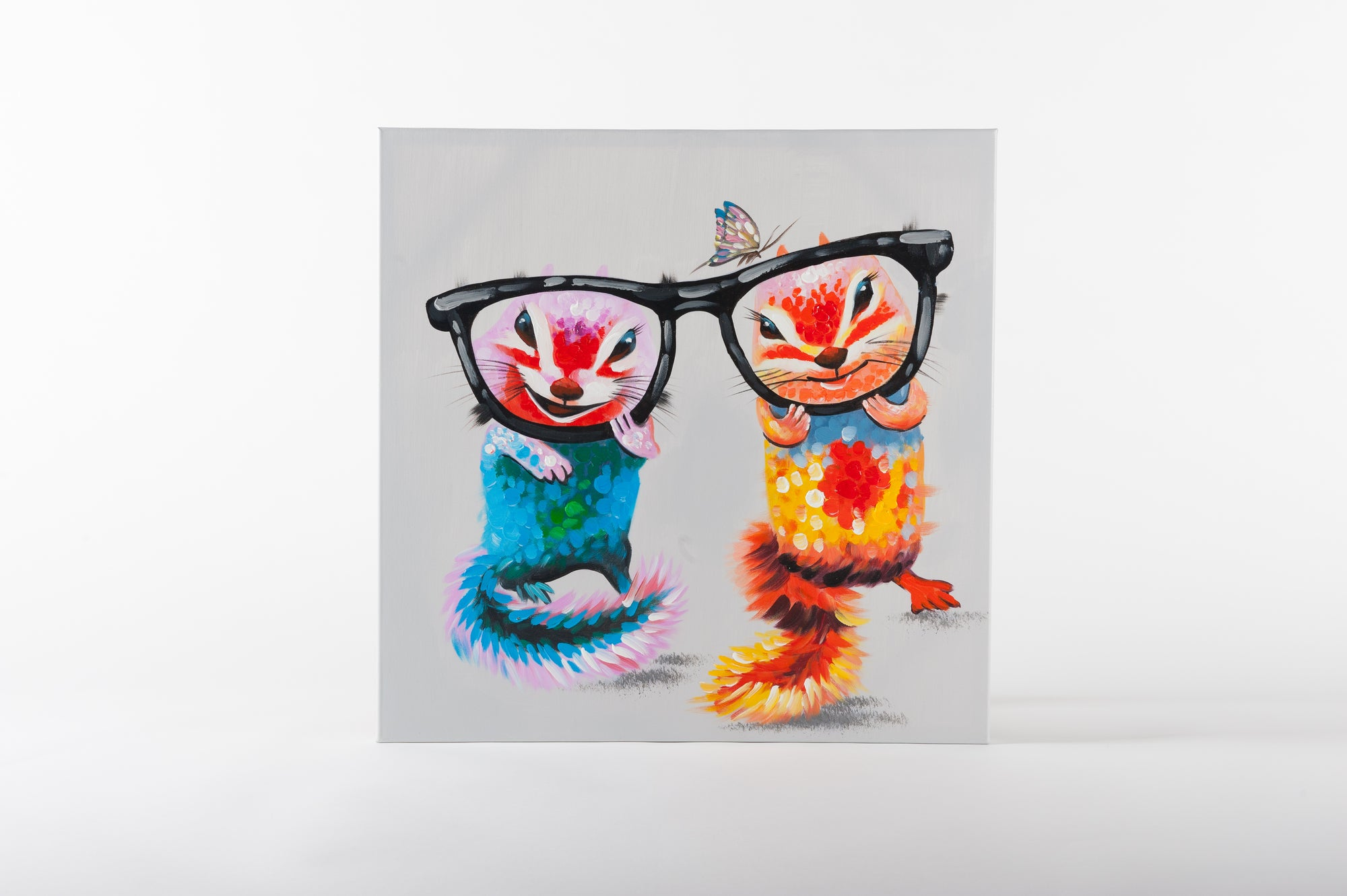 spectacle pair hand painted wall art on canvas - Fervor + Hue
