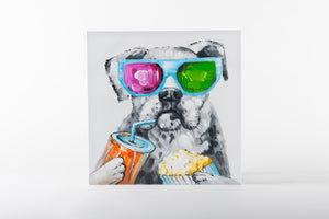 dog painting, animal artwork, hand painted art