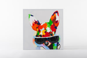 fox painting, hand painted wall art on canvas, animal artwork