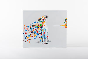 hand painted wall art, dog painting