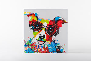 dog painting, hand painted wall art, animal artworks