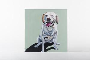 dog painting, animal artworks, canvas art