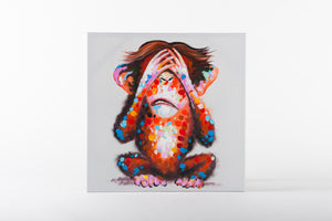 chimpanzee, monkey art, canvas artworks, animal art